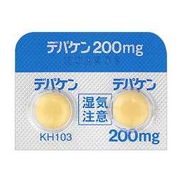 QLifeデパケン錠200mgの効果・副作用デパケン錠200mg[抗てんかん剤、躁病・躁状態治療剤]協和発酵キリン株式会社